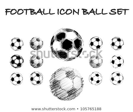 grunge soccer ball set stock photo © burakowski