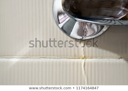 водопроводный кран поверхности воды подробность хром капли воды Сток-фото © prill
