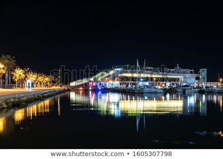 Night Denia marina in Alicante Mediterranean boats Stock photo © lunamarina