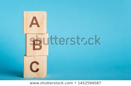 Alphabet toile police cire crayons Photo stock © FOTOYOU