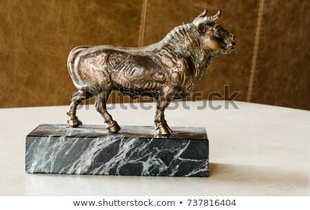 statuette of a bull stock photo © sfinks
