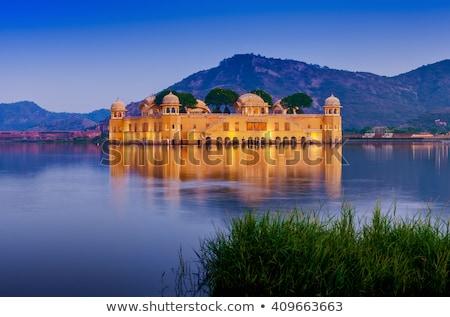 su · saray · adam · göl · Hindistan - stok fotoğraf © meinzahn