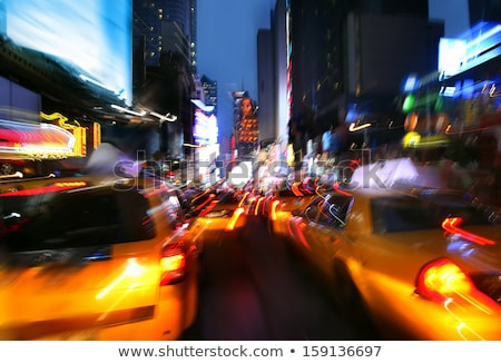 Intentional Blur Image of Driving at Night With City Lights and  Stock photo © tobkatrina