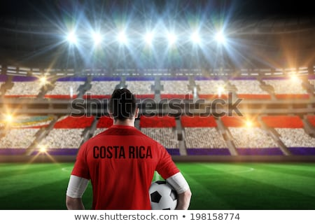 Soccer ball with Costa Rica flag on pitch Stock photo © stevanovicigor