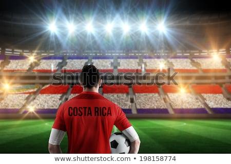 サッカーボール · コスタリカ · フラグ · ピッチ · サッカー · 世界 - ストックフォト © stevanovicigor