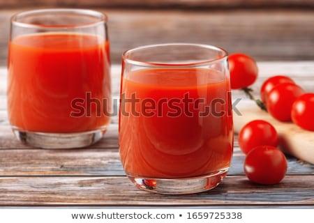 トマトジュース ガラス 孤立した 白 食べ トマト ストックフォト © natika