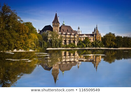 The Vajdahunyad castle, Budapest main city park Stock photo © bloodua