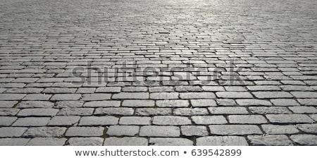 tijolo · piso · velho · grama · verde · buraco · grama - foto stock © thanarat27