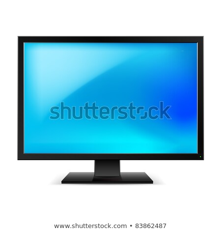 Computer display hd monitor with blank blue screen Stock photo © LoopAll