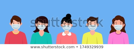 young boy with a medical mask Stock photo © alexandrenunes
