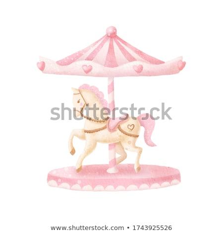 Carrousel speelgoed liefde leuk hart illustreren Stockfoto © smocker03