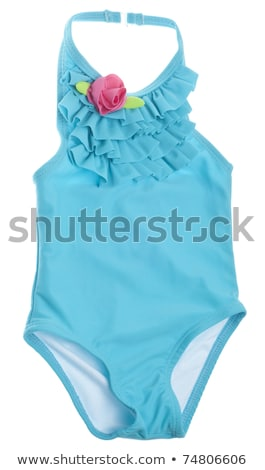 pink woman swimming suit isolated on white stock photo © artjazz