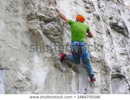 Duży wspinaczki wapień ściany twarz ogromny Zdjęcia stock © taviphoto