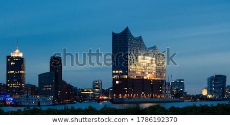 Downtown Hamburg at dawn Stock photo © elxeneize