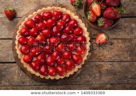 morango · torta · creme · comida · fundo · bolo - foto stock © yelenayemchuk