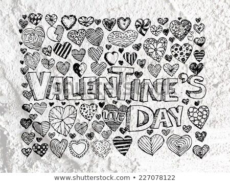 Cuore disegno san valentino cuori texture amore Foto d'archivio © kiddaikiddee