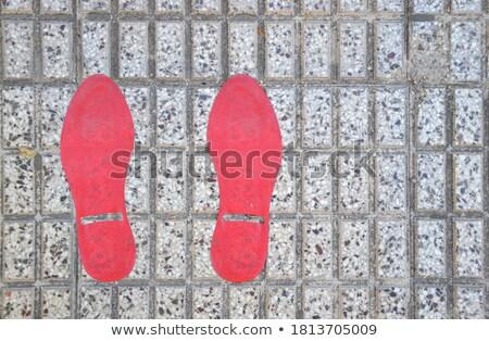 red footprints stock photo © gemenacom