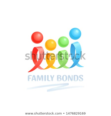 Twisted ribbon- abstract logo in different colors  Stock photo © shawlinmohd