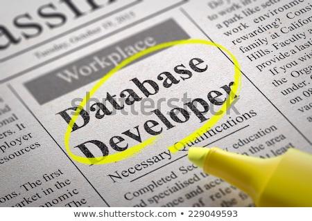 Database Developer Vacancy in Newspaper. Stock photo © tashatuvango