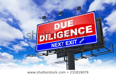 Due Diligence on Red Billboard. Stock photo © tashatuvango