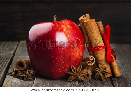 pomme · anis · cannelle · noix · pomme · rouge · star - photo stock © Rob_Stark