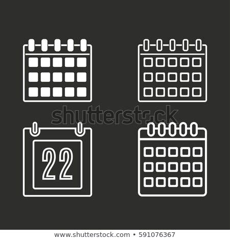 Calendario icona pulsanti set business ufficio Foto d'archivio © aliaksandra