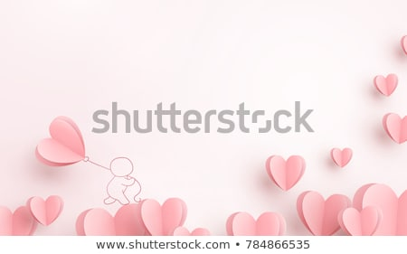 blank card with heart and roses  Stock photo © Peredniankina
