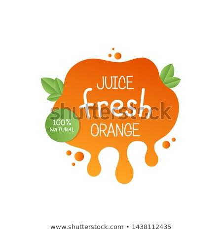 апельсиновый · сок · всплеск · изолированный · белый · продовольствие · лет - Сток-фото © lightsource