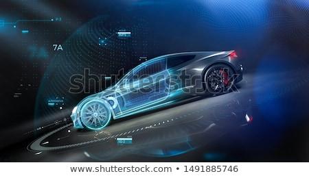 drótváz · autó · fehér · sport · absztrakt · modell - stock fotó © cla78