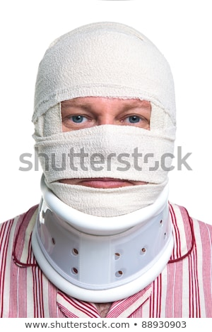 Stock photo: Injured Man with Head Bandages