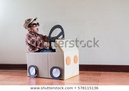 enfants · rue · voiture · enfants · route · étudiant - photo stock © artisticco