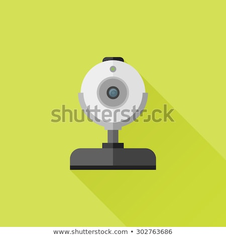 Movie cam flat app icon with long shadow Stock photo © Anna_leni