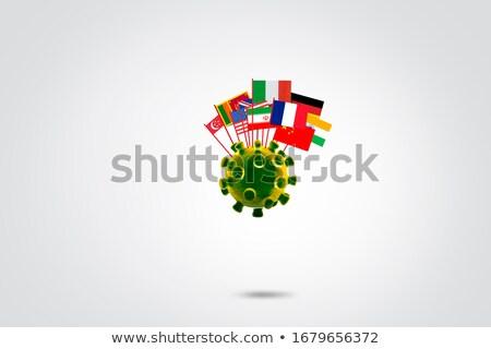 Китай Канада миниатюрный флагами изолированный белый Сток-фото © tashatuvango