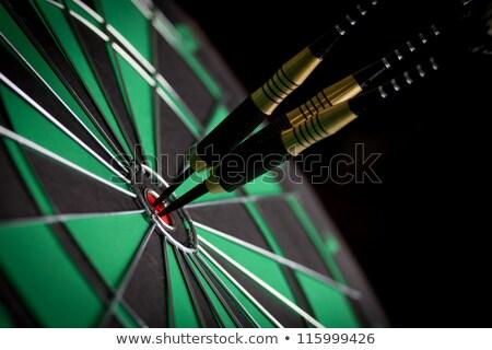 Darts tábla makró sport bár jókedv Stock fotó © ozaiachin