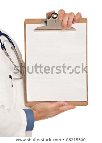 feminino · médico · indicação · cópia · espaço · clipboard - foto stock © ichiosea