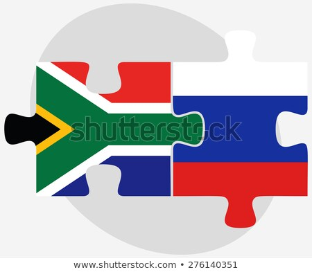 South Africa and Russian Federation in puzzle Stock photo © Istanbul2009