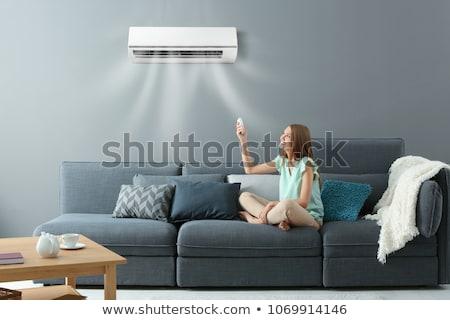 Acondicionador de aire blanco aislado oficina pared luz Foto stock © ozaiachin