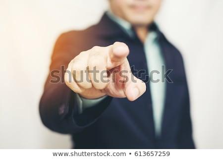 Gericht zakenman wijzend vinger witte man Stockfoto © wavebreak_media
