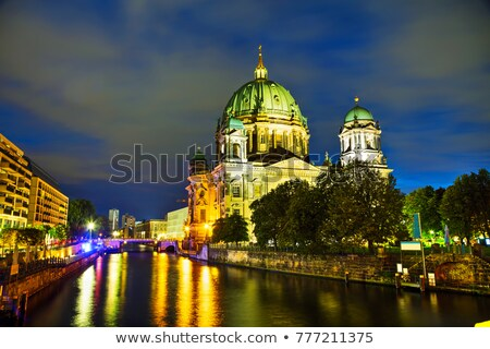 Stock photo: Overview of Berlin at night time