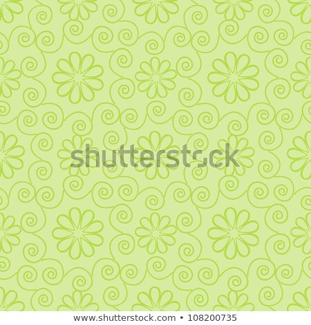 abstract light green seamless ornate vector pattern stock photo © lenapix