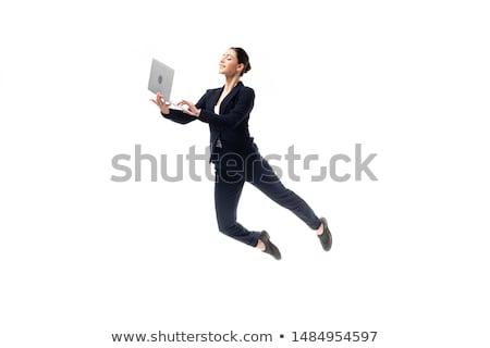 Magie levitatie evenwichtige pose paar Stockfoto © blanaru