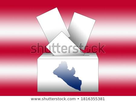 Stemmen vak Liberia partij kaart vlag Stockfoto © Ustofre9
