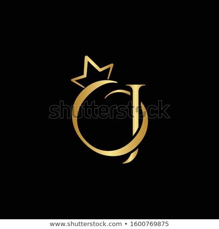 Drágakövek levél fényes gyémánt betűtípus háttér Stock fotó © logoff