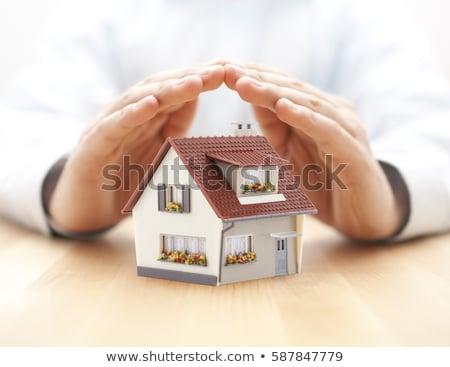 home · klein · huis · hand · gebouw - stockfoto © fotografiche