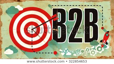 b2b on grunge poster stock photo © tashatuvango