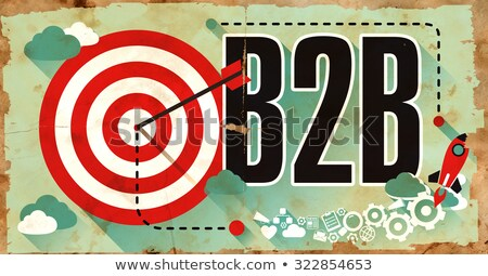 B2b grunge poster woord oude Stockfoto © tashatuvango