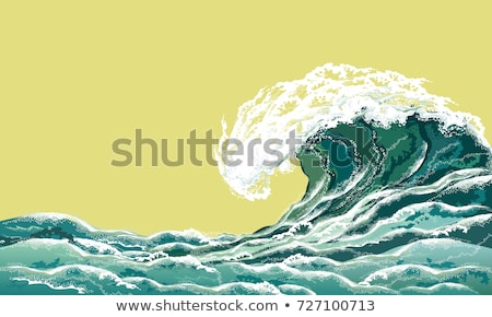 Blue high ocean wave. Surge wave Stock photo © orensila