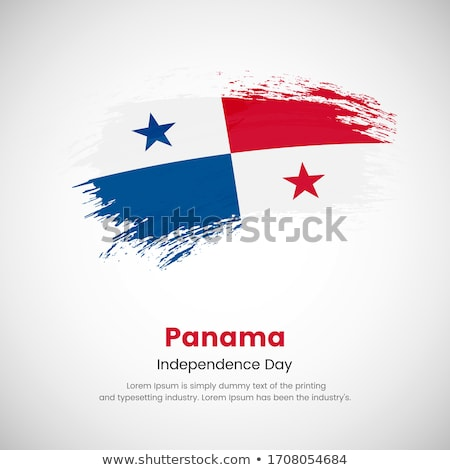 Bayrak Panama boyalı fırçalamak katı soyut Stok fotoğraf © tang90246