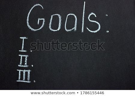 personal information handwritten on chalkboard stock photo © tashatuvango