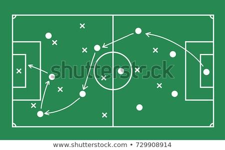 lección · fútbol · táctica · patrones · tiza - foto stock © shawlinmohd